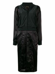 Comme Des Garçons layered trench coat - Black