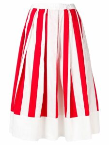 Comme Des Garçons Girl striped full skirt - Red