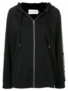 Calvin Klein Jeans Zip-through logo tape hoodie - Black