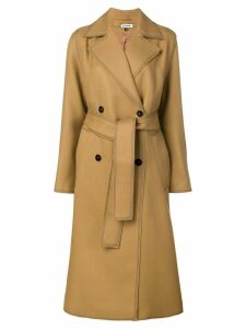 Jil Sander double breasted coat - Brown