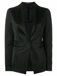 Tagliatore glitter single-breasted blazer - Black