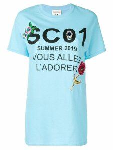Semicouture graphic print T-shirt - Blue
