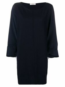Dorothee Schumacher contrast sleeve knitted dress - Blue