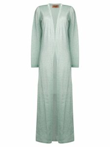 Missoni long metallic cardigan - Blue