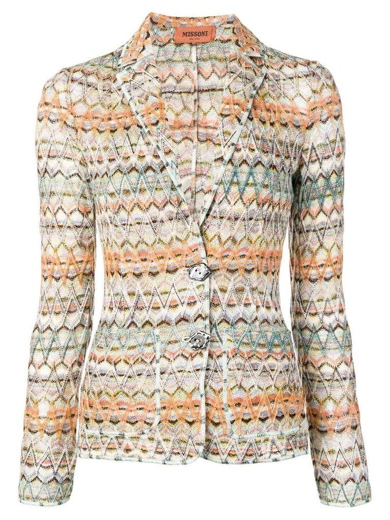 Missoni zig-zag knitted blazer - Orange