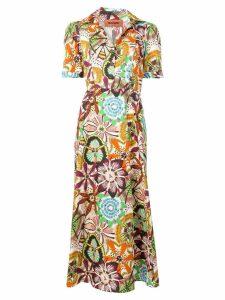Missoni floral shirt dress - Orange