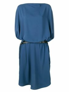 Mm6 Maison Margiela loose fit belted dress - Blue