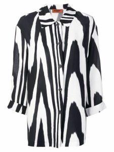 Missoni zebra print oversized shirt - White