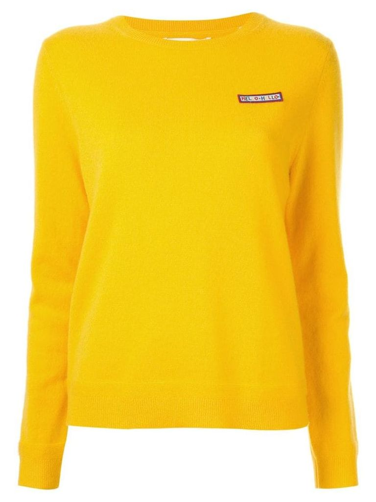 Chinti & Parker embroidered patch jumper - Yellow