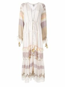 Hemant And Nandita tassel embroidered maxi dress - Yellow