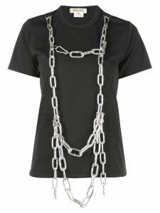 Comme Des Garçons chain harness T-shirt - Black