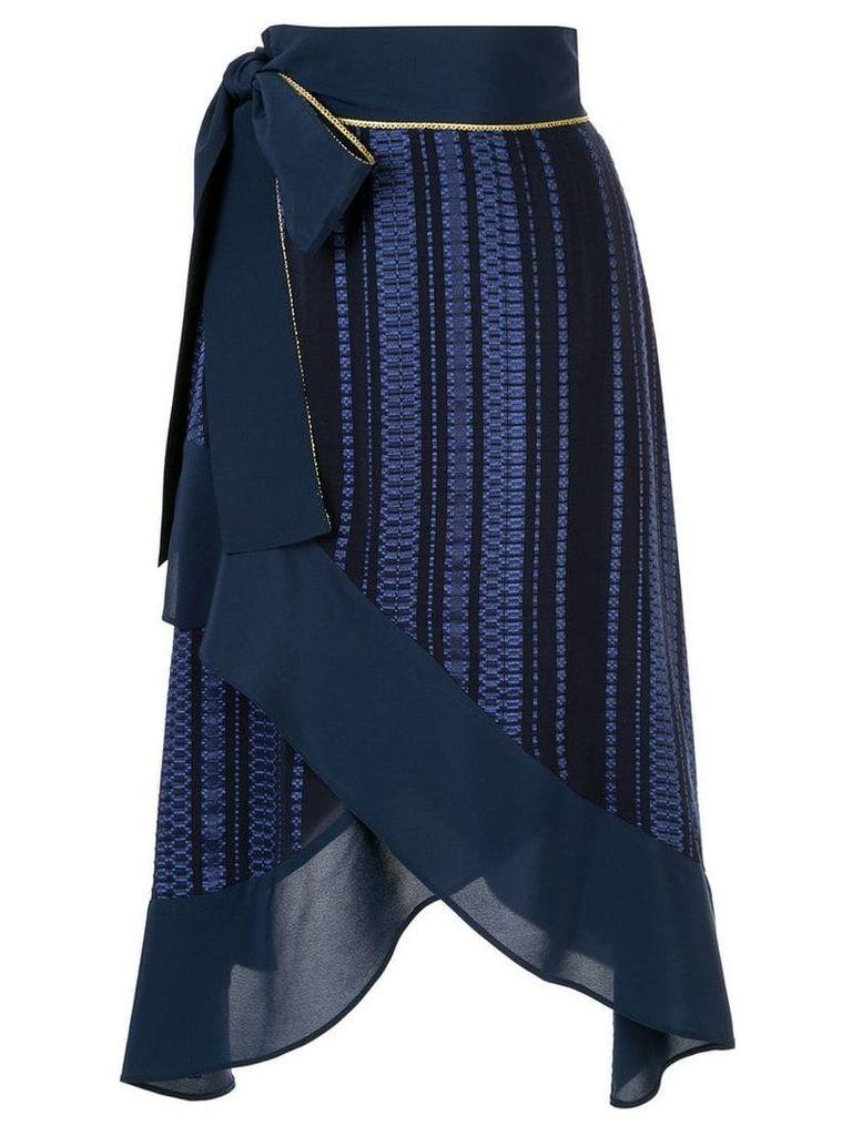 Zeus+Dione high waisted wrap skirt - Blue