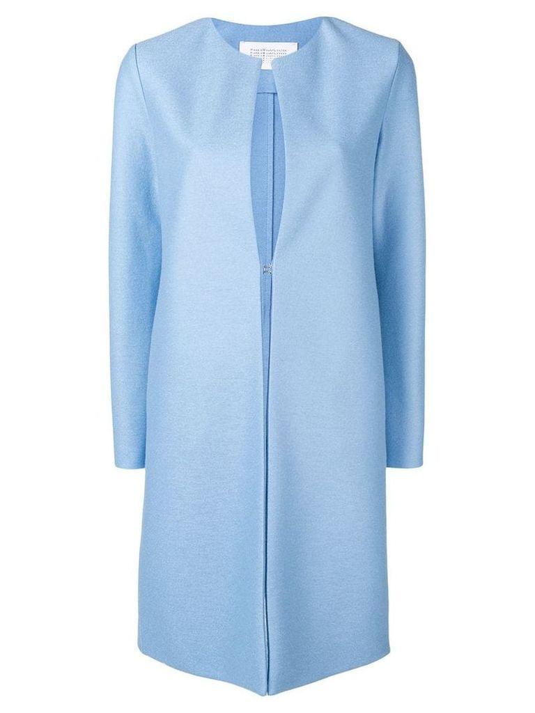 Harris Wharf London collarless mid-length coat - Blue