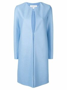 Harris Wharf London collarless mid-length coat - Blue