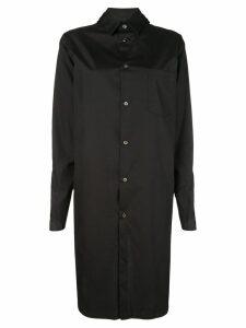 Comme Des Garçons oversized long-front shirt - Black