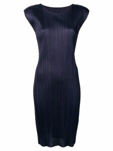 Pleats Please By Issey Miyake pleated midi dress - Blue