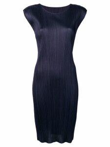 Pleats Please By Issey Miyake pleated midi dress - Blue