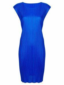 Pleats Please Issey Miyake pleated midi dress - Blue