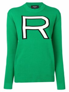 Rochas oversize R sweater - Green