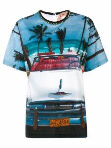 Nº21 beach car T-shirt - White