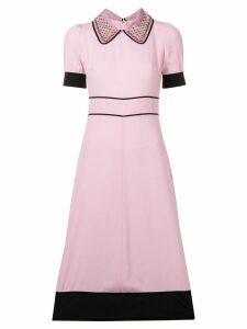 Nº21 embellished collar dress - Pink