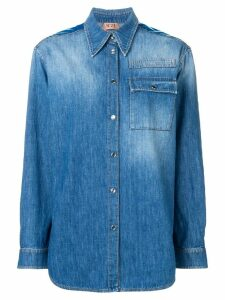 Nº21 washed denim shirt - Blue