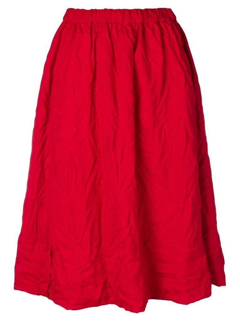 Comme Des Garçons creases midi skirt - Red