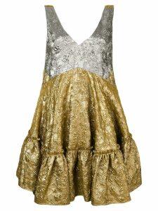 Nº21 flared sleeveless dress - Gold