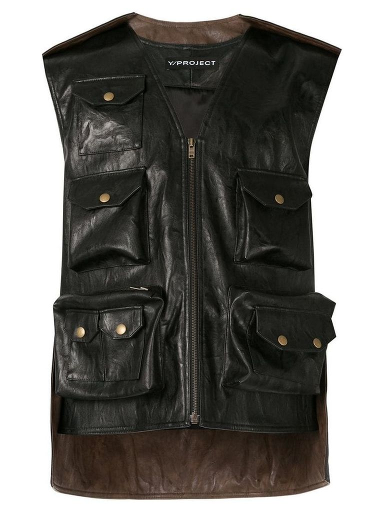 Y/Project hunting vest - Black