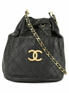 Chanel Pre-Owned Cosmos quilted CC logos shoulder bag - Black