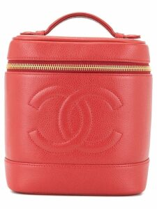 Chanel Pre-Owned CC logos cosmetic vanity hand bag - Red