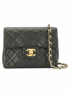 Chanel Pre-Owned CC logos single chain shoulder bag - Black