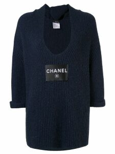 Chanel Pre-Owned cashmere knit top - Blue