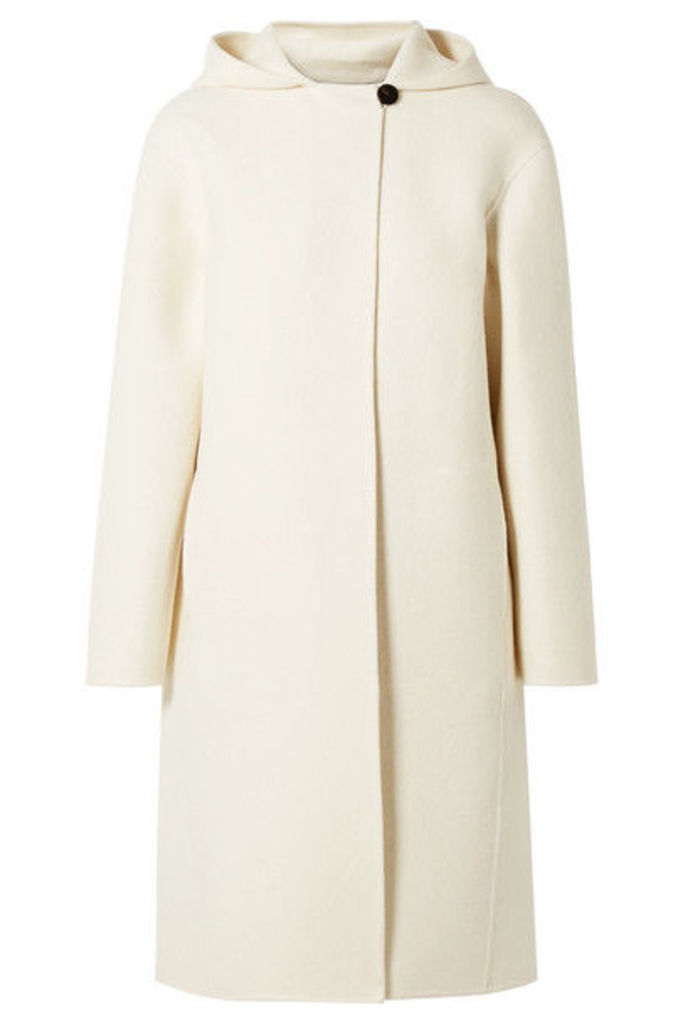Theory - Hooded Wool-blend Felt Coat - Cream