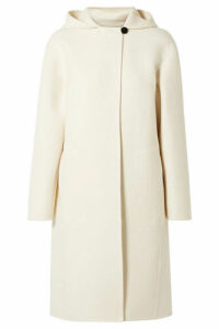 Theory - Hooded Wool-blend Felt Coat - Cream