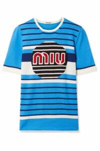 Miu Miu - Wool-jacquard Sweater - Blue