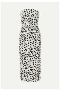 16ARLINGTON - Strapless Sequined Crepe Dress - White