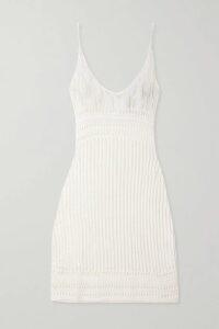 PAPER London - Asymmetric Striped Linen-blend Wrap Dress - Ivory