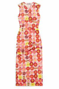 Molly Goddard - Laurie Gathered Printed Stretch-tulle Dress - UK8