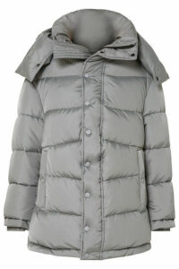 Balenciaga - Swing Oversized Padded Shell Coat - Gray