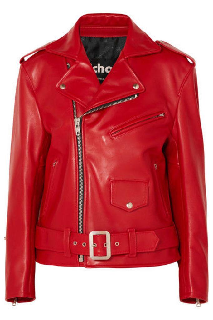 Junya Watanabe - Leather Biker Jacket - Red