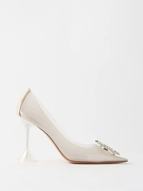 Gucci - Gg Print High Rise Silk Pleated Wrap Skirt - Womens - Black Gold