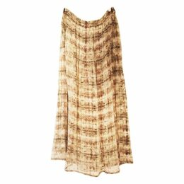 Burgundy Silk Skirt