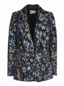 Self-portrait Floral Sequin Blazer