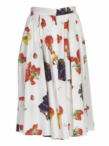 Msgm Fruit Print Skirt