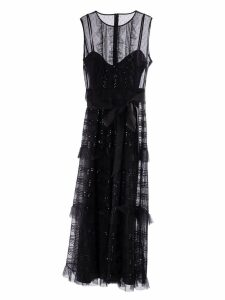RED Valentino Microsequin Tulle Dress