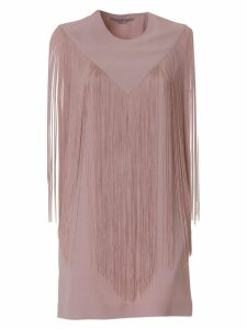 Stella Mccartney Dress With Fringe In Pink