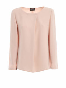 Emporio Armani Cady Long Sleeved Blouse