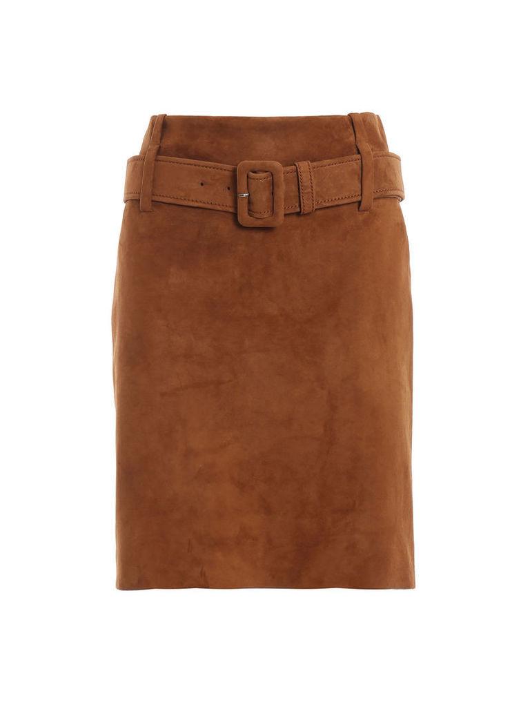 Prada Belted High Waist Skirt