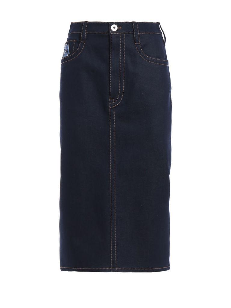 Prada Raw Skirt